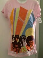 THE BEATLES SHIRT SIZE XL Mod PINK MULTI COLOR New with Tags VTG