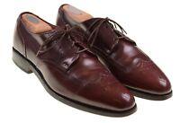 Allen Edmonds Kingswood Burgundy Maroon Leather Wingtip Brogue Dress Shoes 9 C