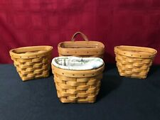 4 Longaberger Baskets 3 Oregano Baskets & Key Basket w/protectors