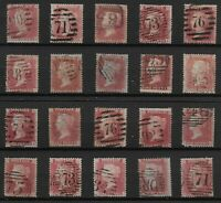 """1d.""""Red"""" STARS Type (Qty.20)-Various Shades.  Min.Cat.£240.  Ref:0/127"""