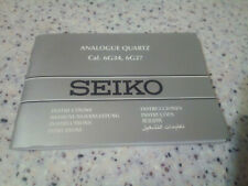 Instructions Booklets Cal.6G34 6G27 Seiko Analogue Quartz Watch Manual