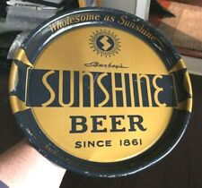 "Vintage Sunshine Beer Pie Pan 13"" Metal Tin - Litho Tray Barbey'S Brg Reading Pa"