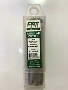 "FMT 7/8"" Dia. x 2"" DOC x 3/4"" Shank Carbide Tipped Two-Flat Annular Cutter"