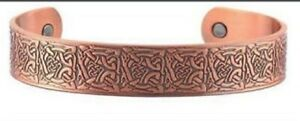 Men's 8 Inch Solid Copper Magnetic Cuff Bracelet CBM222- 5/8 of an inch wide.