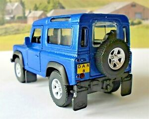 Land Rover Defender PERSONALISED PLATES Boys Toy Model Car Birthday Present New