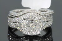 3.00Ct White Round Diamond Engagement Wedding Ring Set 14k White Gold Fn