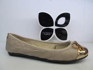 Butterfly Twists Twist Olivia Mink Rose Gold Quilt Flat Fold Up Ballerina Shoe