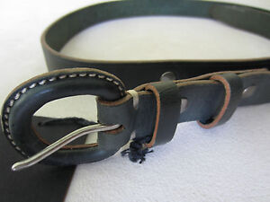 "Paul Smith Skinny Leather buckle belt Green  34"" Waist"