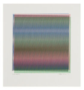Carlos Cruz-Diez, original aquatint etching, signed and numbered. OP ART.