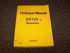Hitachi EX120-2 Hydraulic Excavator Shop Service Repair Technical Manual Book