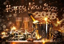 Happy New Year Party Backdrop Banquet Digital Background 7x5ft Studio Photo Prop