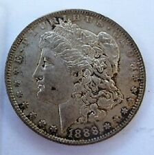 1888 O UNC MORGAN DOLLAR VAM 1D PITTED OVERSE DIE GOUGE DENTICLES 8 KNOWN