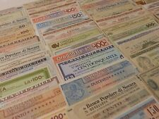 More details for italy 56 mini assigni small change banknotes 1970s mostly different used-mint
