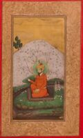 Hand Painted Mughal Maharajah King Portait Miniature Painting India Paper