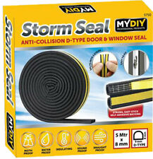 5M Rubber Seal Weather Strip Foam Sticky Tape Door Window Draught Excluder EPDM
