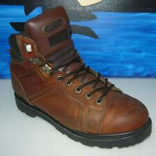 Texas Steer Kode Leather Soft Toe Work Boot Brown Water Oil resistant Sz 8.5W