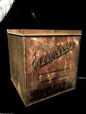 Antique Primitive Store Advertising Tin Everybody's Tacoma Biscuit Tin Box AAFA