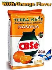 Y33 - YERBA MATE ARGENTINA CBSE 0.500 KG / 1.1 LBS - WITH ORANGE FLAVOR