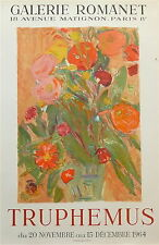 Jacques Truphemus affiche litho 1964 bouquet de fleurs Grenoble Lyon Bâle p 284
