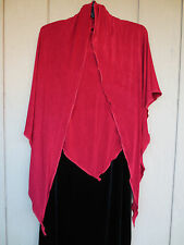 "RED Stretchy Acetate Large Triangular Scarf, Shawl, Skirt, RED, 58"" x 88"""