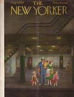 1949 New Yorker Aug 13 - Waiting for the morning train