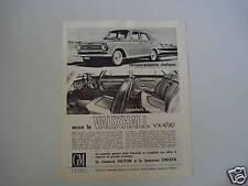 advertising Pubblicità 1963 VAUXHALL VX4 / 90