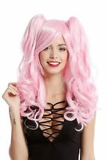 Perücke Damenperücke Cosplay 2 Zöpfe lang wellig Gothic Lolita Japan Rosa Pink