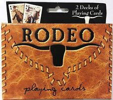 Rodeo 2 Deck Set Denim & Leather Playing Cards Poker Size USPCC Custom Limited