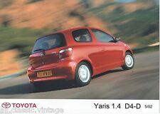 PRESS - FOTO/PHOTO/PICTURE - TOYOTA Yaris 1.4 D4-D 05/2002