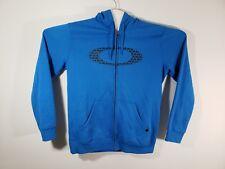 Oakley Zipper Hoodie Men's XL Blue with Black O Symbol on Chest
