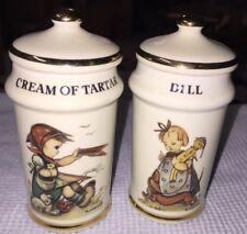 Cream Of Tartar & Dill Spice Jars Mint M.J. Hummel Switzerland 1987 More AvaiL