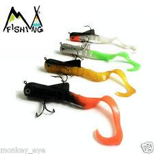 Soft Bait Bull Dawg Dog Musky Alien Eel Plastic Body Fish lure pack of 4