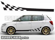 Skoda side 008 racing stripes graphics stickers decals Fabia Octavia VRS