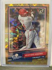 Aristides Aquino 2020 Donruss Baseball The Rookies GOLD (64/99) Cincinnati Reds