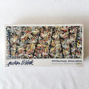 JACKSON POLLOCK Blue Poles 1000 Piece Jigsaw Puzzle Vintage RARE 1 PC Missing