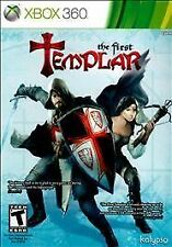 The First Templar Complet ein case w/ manual & Slip Cover great shape Xbox 360