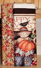 Happy Harvest Home Scarecrows Panel & Fabric SOLD SEPARATELY   PRICE REDUCED