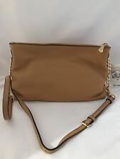 NWT Michael Kors Jet Set Leather Crossbody With Gold Chain Accents