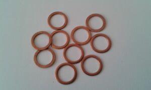 10 Stück Kupferdichtring  Dichtung Kupfer 10x13,5x1 mm DIN 7603  Form A