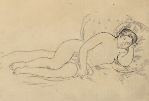 PIERRE AUGUSTE RENOIR (FRENCH, 1841-1919) RECLINING NUDE STUDY, ETCHING