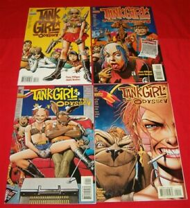 TANK GIRL ODYSSEY 1-4 DC VERTIGO COMIC SET PETER MILLIGAN JAMIE HEWLETT 1995 VF