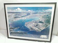 "San Francisco Bay Cities Art/Map framed measuring 29""X23"""