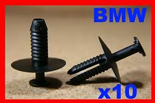 10 BMW serie 3 5 7 PARAURTI PARAFANGO PORTA CARD Mud Guard Trim Fastener Rivetto Clip