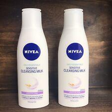2 x NIVEA Sensitive Skin Cleansing Milk Daily Essentials Cleanser PERFUME-FREE