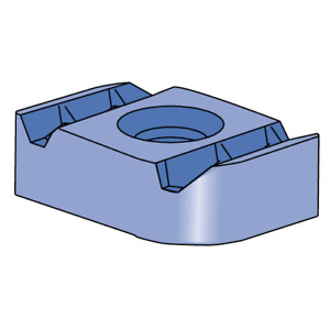 "3/8""-16 Unistrut Channel Nut for 1-5/8"" Channel Electroplated Zinc"