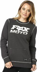 Fox Racing Womens Charger Crew Fleece - Black, XL