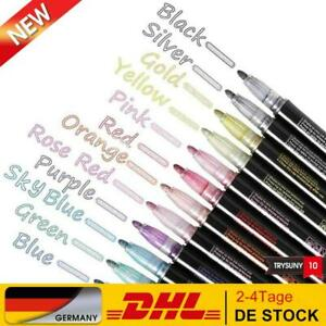Farbstifte, Outline Stift, 12 Farben Double Line Outline Glitzer Stifte Far