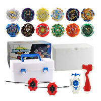 12pcs Metal Fusion Attack Set with 4D Launcher Grip & Burst Gyro Storage Box