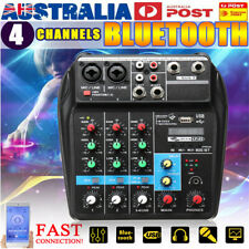 4 Channel USB bluetooth DJ Live Stage Studio Audio Mixer Mixing Console  δ