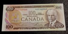 1975 $100 Bank of Canada Lawson Bouey *JC replacement note BC-52aA About AU